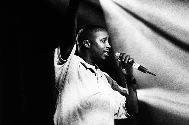 Warren G performing on stage in 1994
