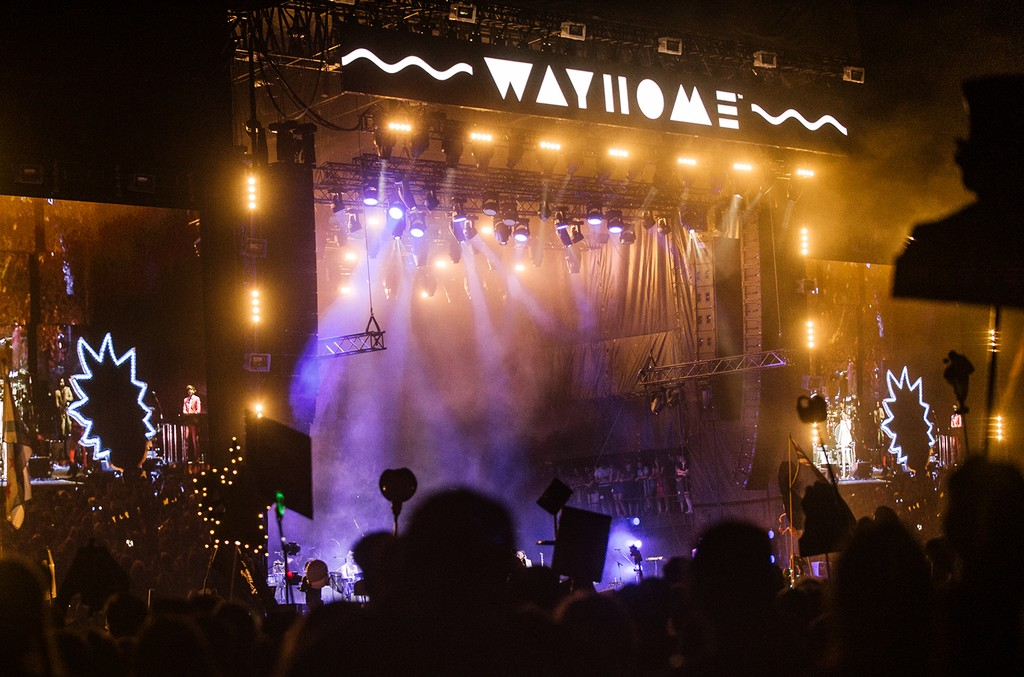 A view of the crowd as Arcade Fire performs onstage on Day 2 of the WayHome Music and Arts Festival on July 22, 2016 in Oro-Medonte, Canada.