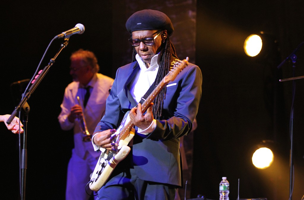 Nile Rodgers performs during the We Are Family Foundation Gala April 28, 2017.