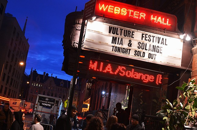 General view of the atmosphere at Webster Hall