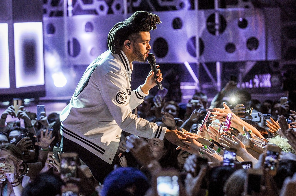 The Weeknd performs at the 2015 Much Music Video Awards