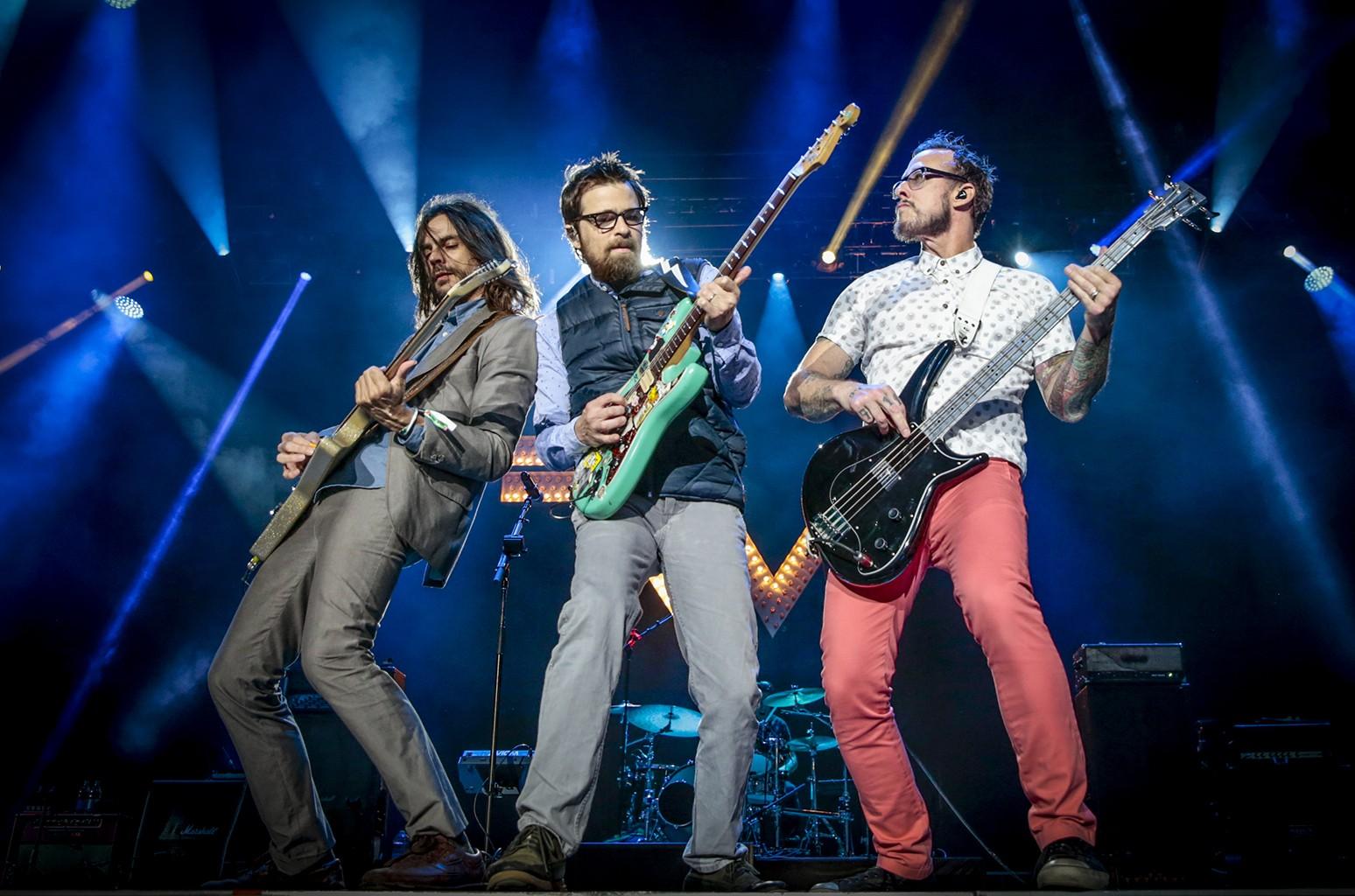 Weezer perform in 2015