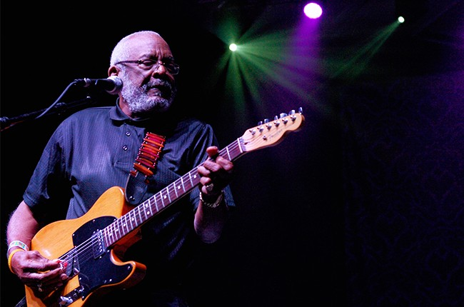 Wendell Holmes of The Holmes Brothers performs during the Big Blues Bender at the Riviera Hotel & Casino on September 27, 2014 in Las Vegas, Nevada.