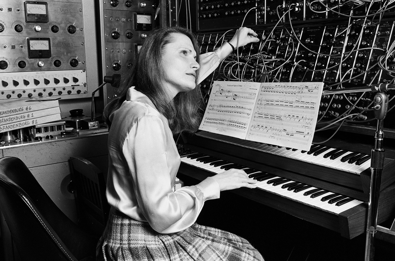 Wendy Carlos at work in her New York City recording studio in Oct. 1979.