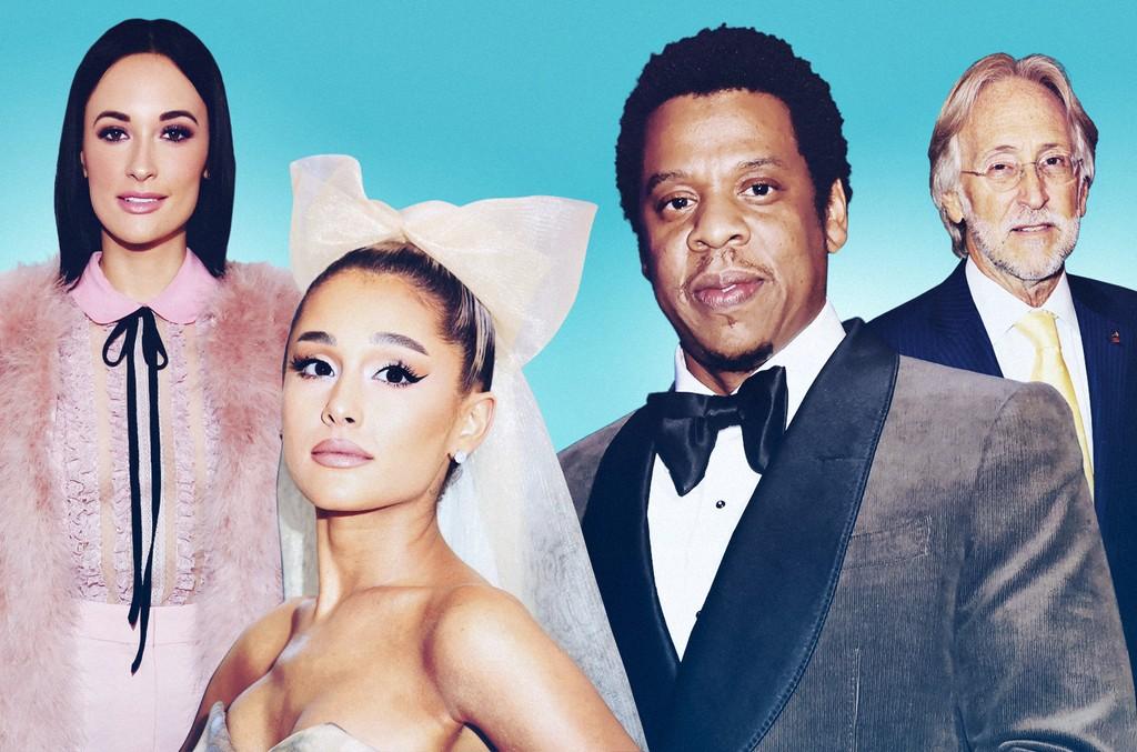 Kacey Musgraves, Ariana Grande, Jay-Z and Neil Portnow
