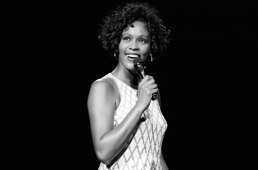Whitney Houston performs in 1993
