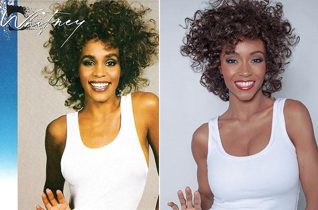 Whitney Houston and Yaya DaCosta as Whitney Houston