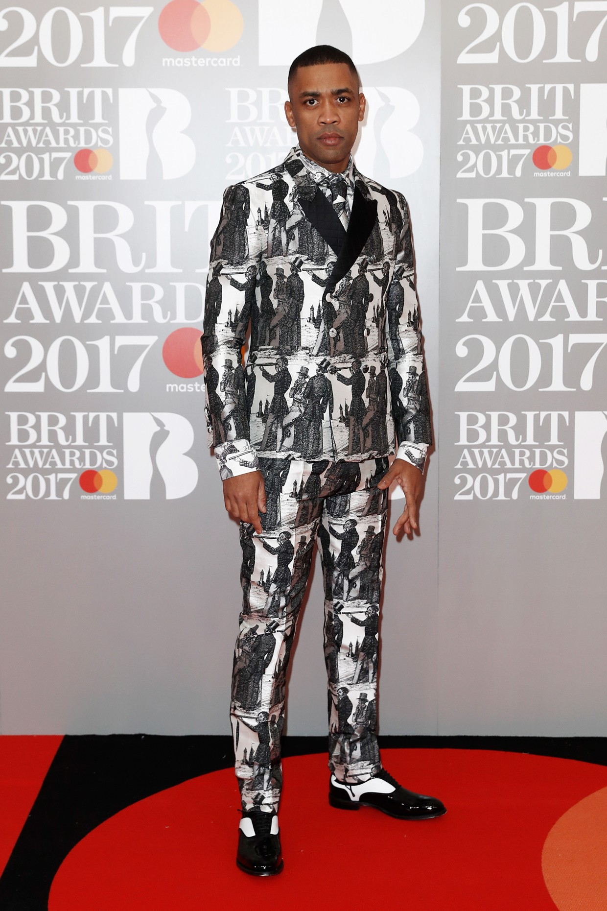 Wiley attends the Brit Awards 2017 at the O2 Arena on Feb. 22, 2017 in London, England.