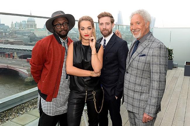 Will.I.Am, Rita Ora, Ricky Wilson and Sir Tom Jones