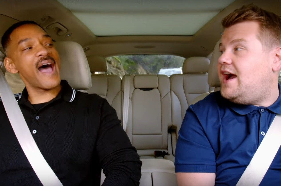 "Will Smith and James Corden in ""Carpool Karaoke"""