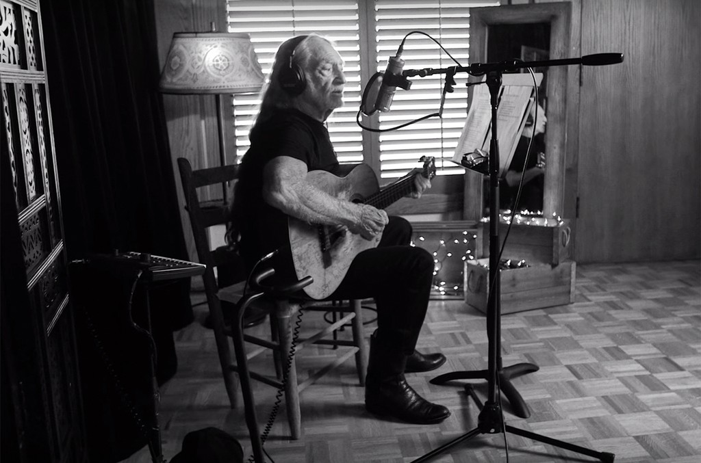 """Willie Nelson in the video for """"He Won't Ever Be Gone."""""""