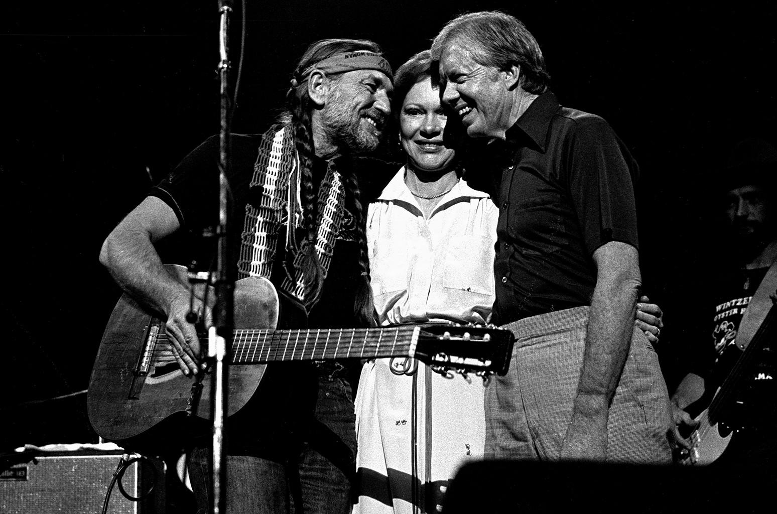 Jimmy Carter, Rosalynn Carter & Willie Nelson, 1982