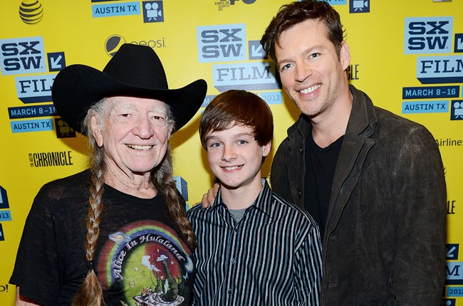 Willie Nelson, Chandler Canterbury and Harry Connick Jr.