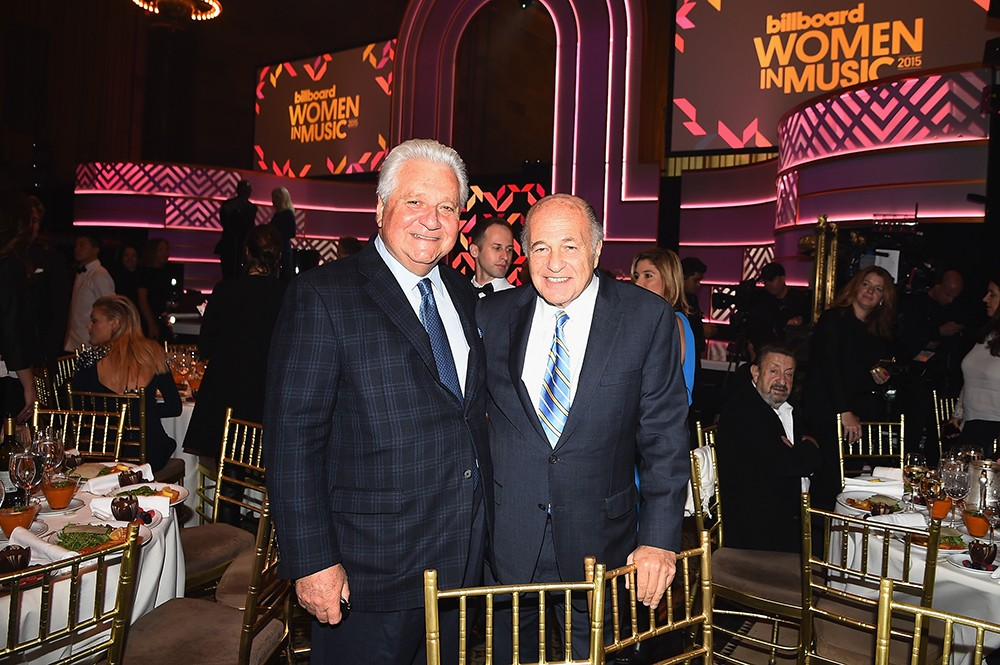 Martin Bandier and Doug Morris attend the Billboard Women in Music Luncheon on December 11, 2015 in New York City.