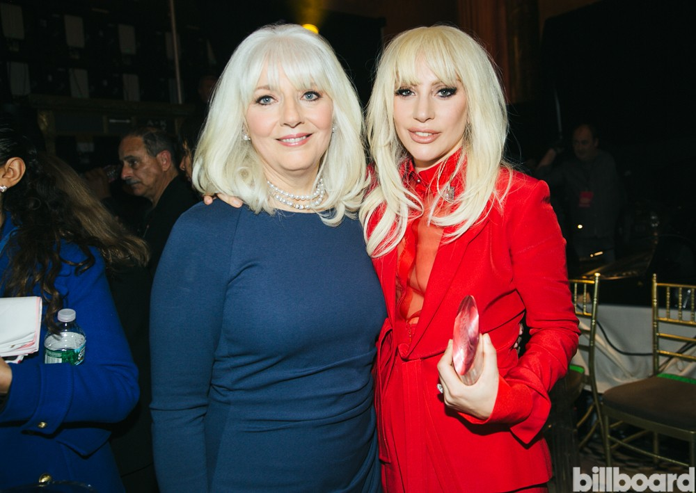 Woman of the Year Lady Gaga (right) with her mother Cynthia Germonatta