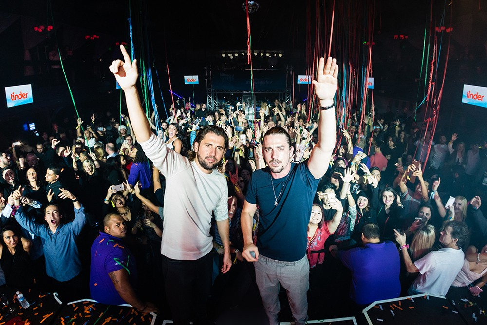 Dimitri Vegas and Like Mike perform at Billboard Winterfest at Park City Live! on Jan 29, 2016.