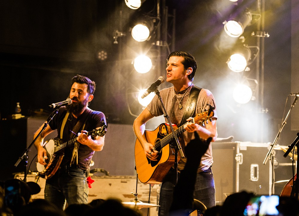 The Avett Brothers perform at Billboard Winterfest at Park City Live! on Jan 28, 2016.