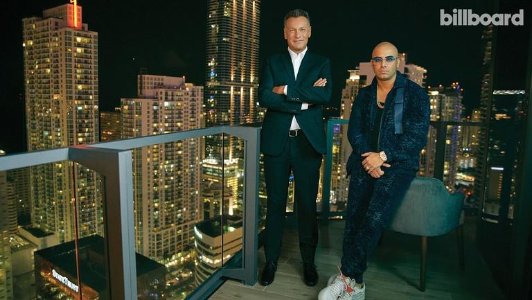 <p>Walter&nbsp&#x3B;Kolm&nbsp&#x3B;(left) and&nbsp&#x3B;Wisin&nbsp&#x3B;photographed on Oct. 16, 2018 at East, Miami in Miami.</p>