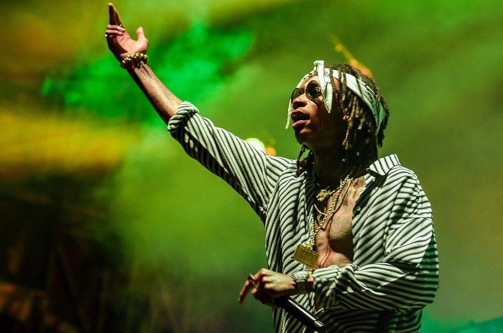 Wiz Khalifa performs during 2017 Governors Ball Music Festival - Day 3 at Randall's Island on June 4, 2017 in New York City.