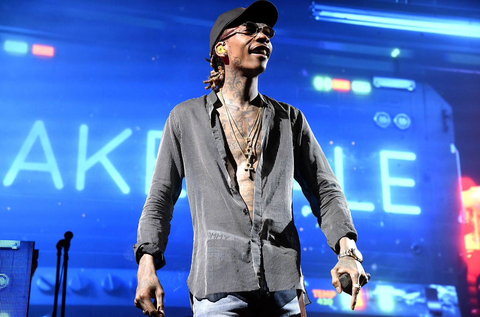 Wiz Khalifa performs at Concord Pavilion