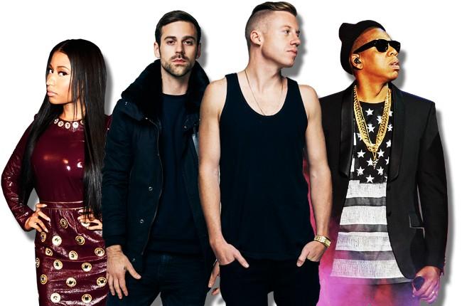 Nicki Minaj, Macklemore & Ryan Lewis and Jay Z