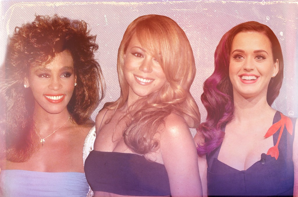 Whitney Houston, Mariah Carey & Katy Perry