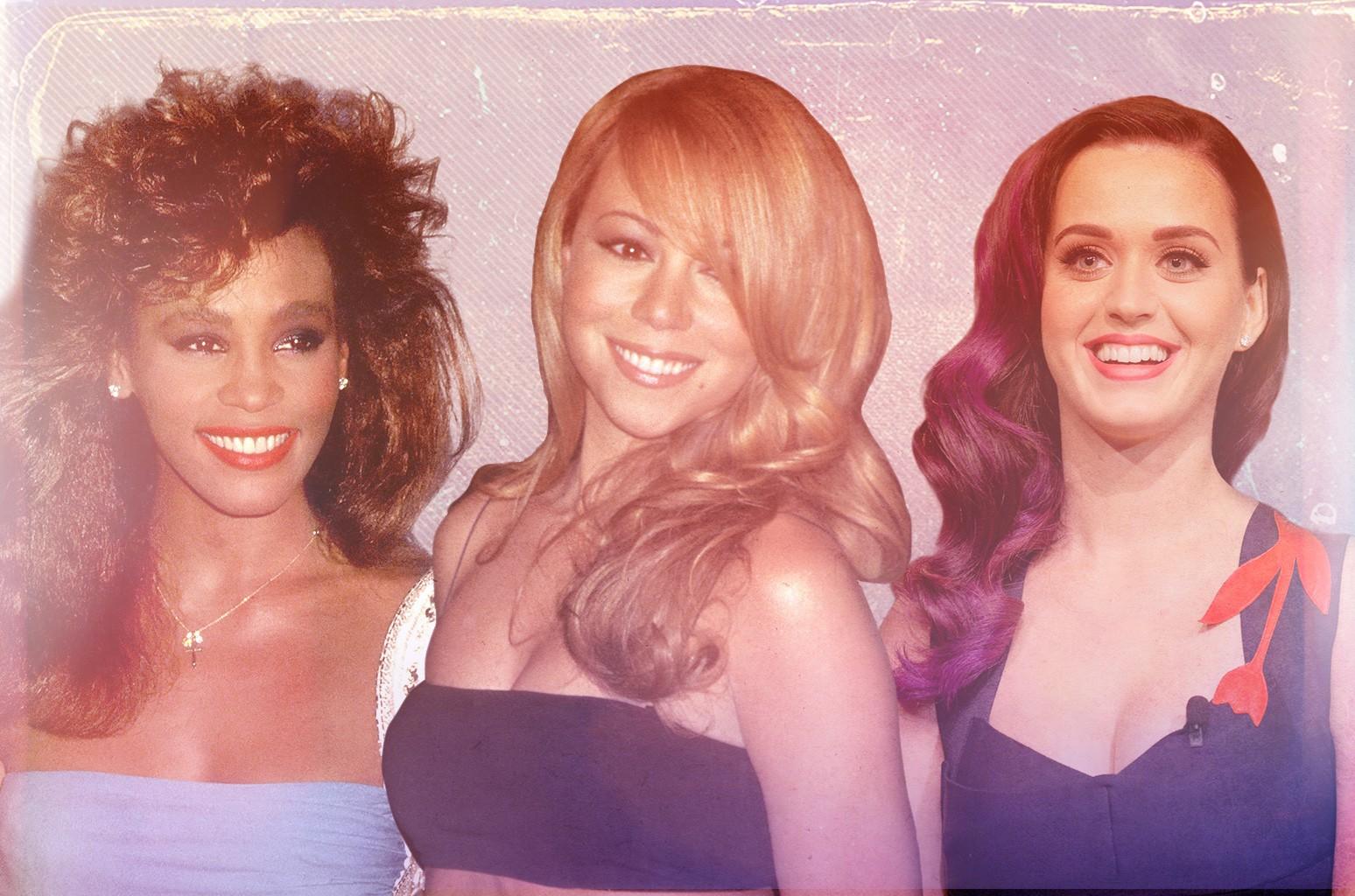 Whitney Houston, Mariah Carey & Katy Perry