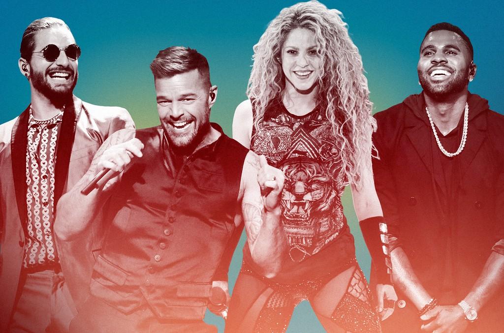 Maluma, Ricky Martin, Shakira & Jason Derulo