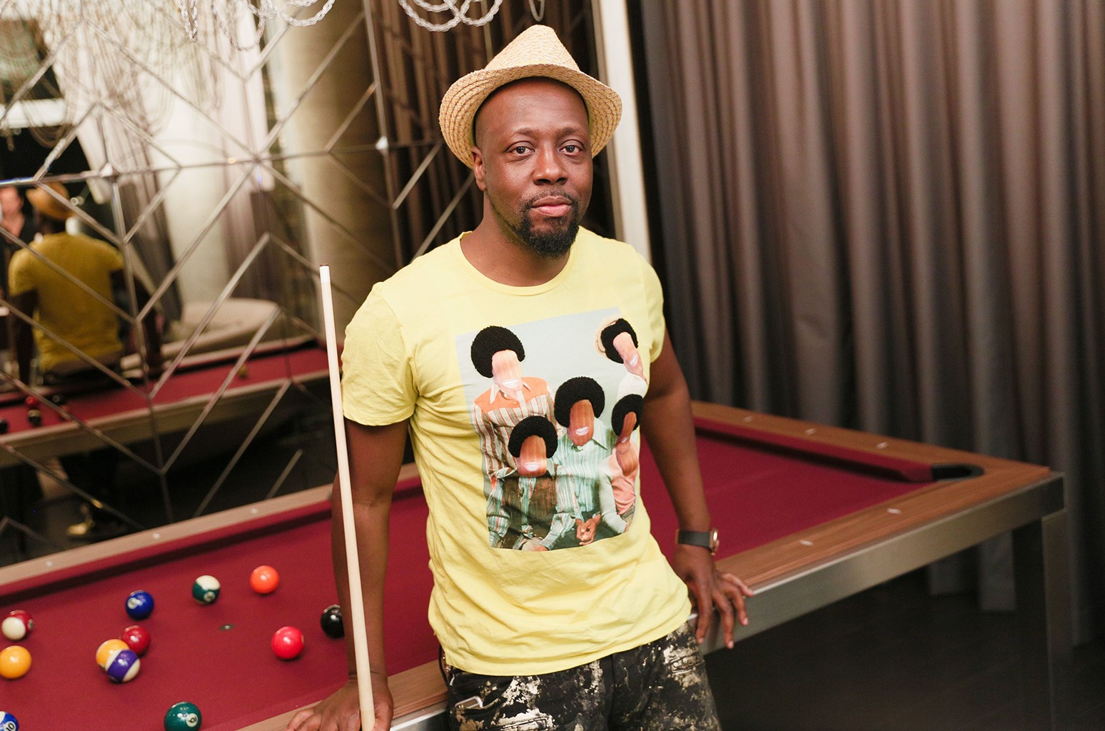 Wyclef Jean photographed at the Renaissance New York Midtown Hotel