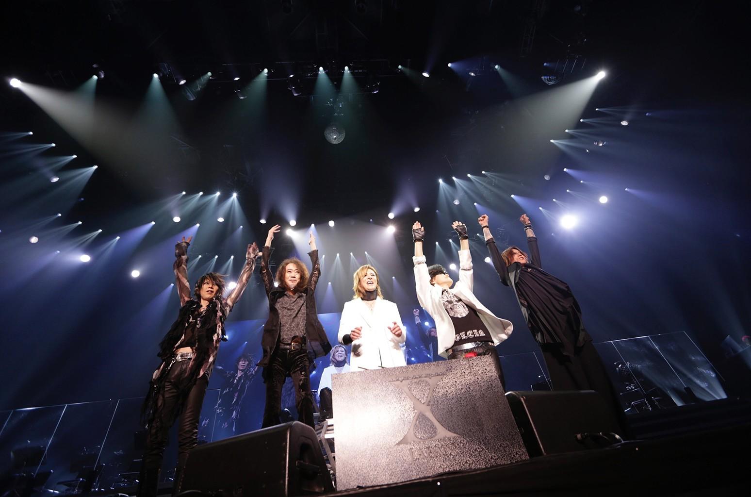X Japan performs on July 14, 2017 at Yokohama Arena in Japan.