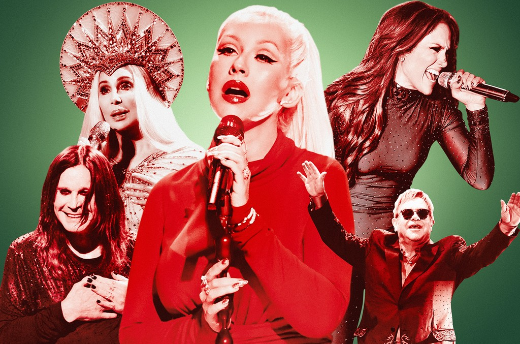 Cher, Christina Aguilera, Jennifer Lopez, Elton John and Ozzy Osbourne