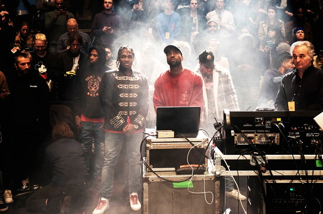 Kanye West's Yeezy 3 presentation and album release event at Madison Square Garden on Feb. 11, 2016, in New York City.