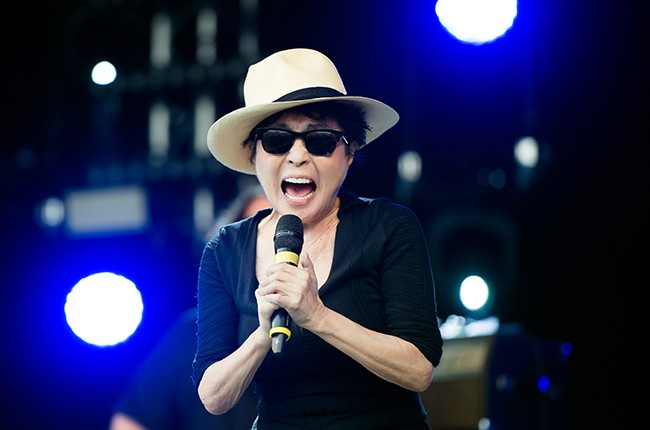 Yoko Ono of the Plastic Ono Band