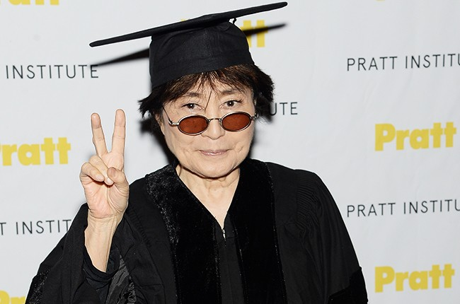 Yoko Ono receives an honorary degree