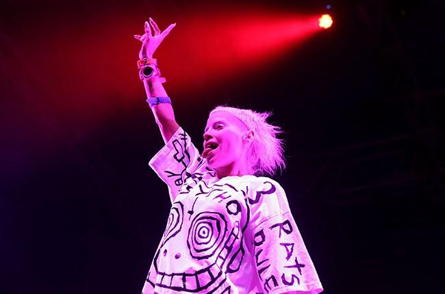 Yolandi Visser of Die Antwoord performs during the Future Music Festival 2015