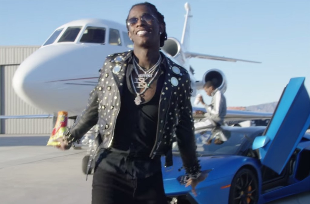 Young Thug in the video for Wyclef Jean