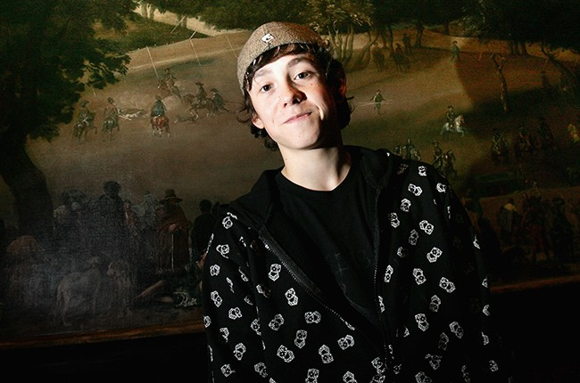 Lil Chris poses for a photo as he launches Youth Music Week at the National Gallery on October 24, 2007 in London, England.