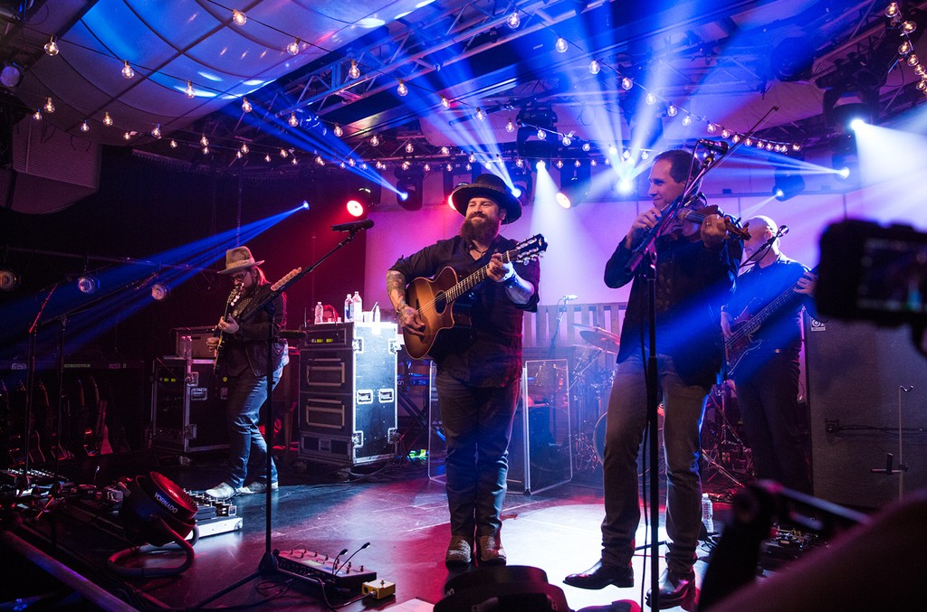 Zac Brown Band performs on stage at the iHeartRadio Album Release Party at the iHeartRadio Theater in New York on May 15, 2017.