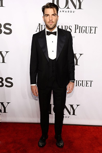 Zachary Quinto attends the 68th Annual Tony Awards