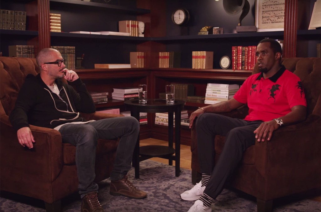 Diddy and Zane Lowe during an interview on on Beats 1 Radio