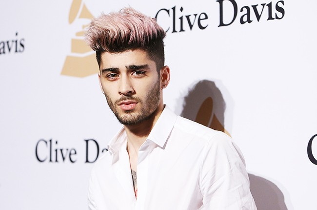 Zayn Malik photographed at The Beverly Hilton Hotel on February 14, 2016 in Beverly Hills, Calif.