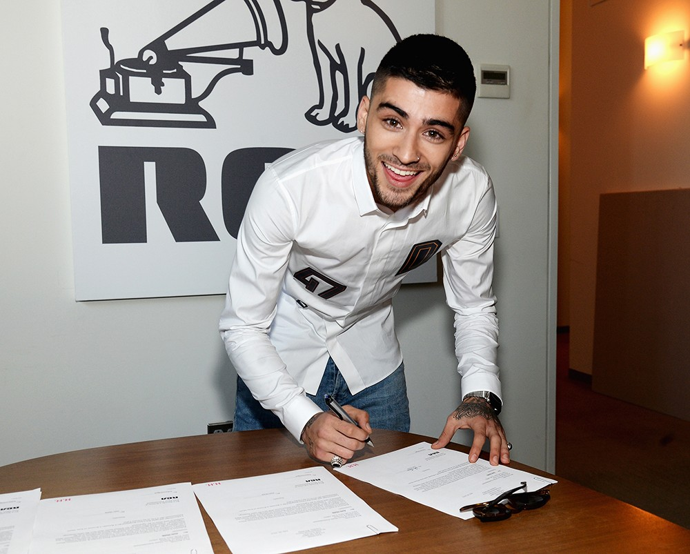 Zayn Malik signs Global Recording Deal with RCA Records on July 29, 2015 in New York City.
