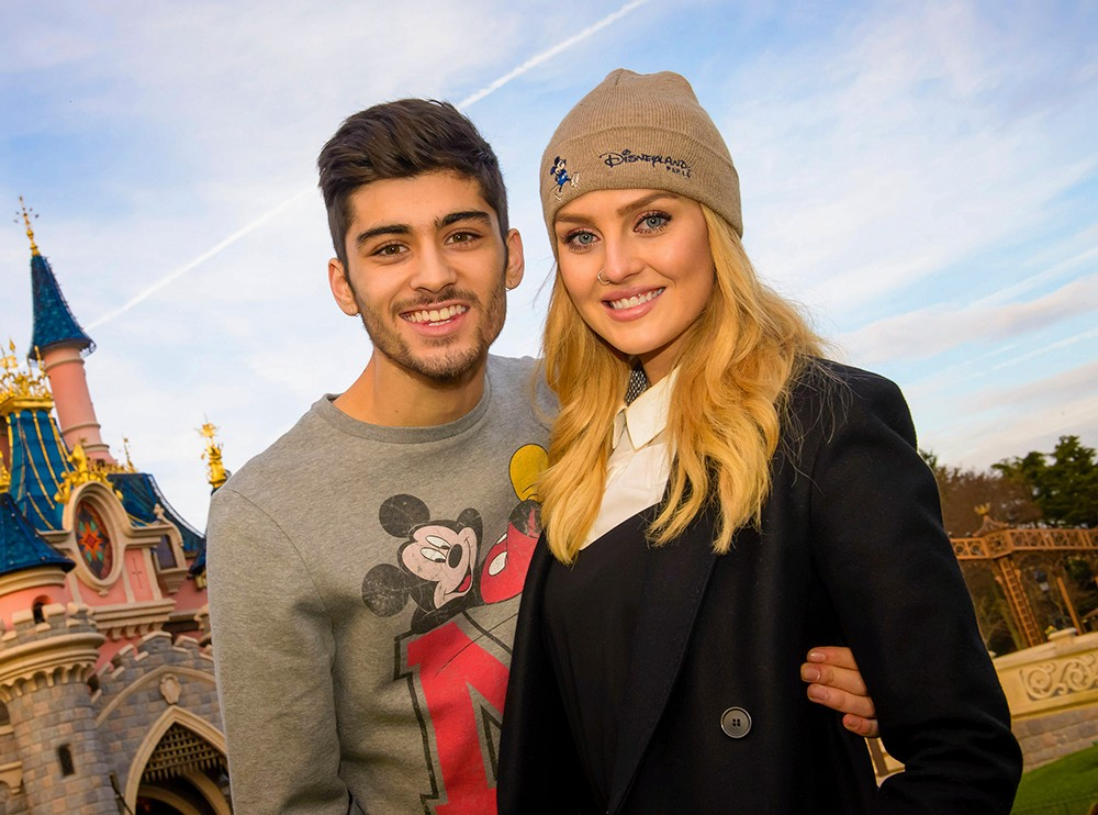 Zayn Malik (formerly of One Direction) with Perrie Edwards in Disneyland Paris on January 9, 2014.