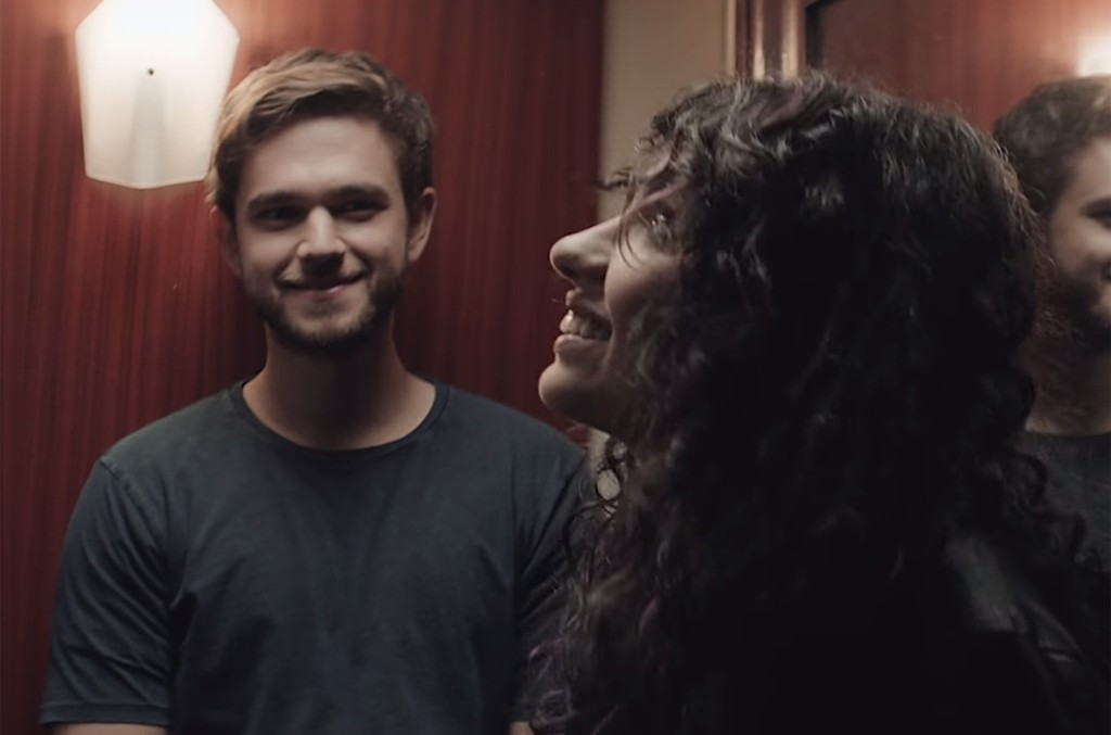 """Zedd and Alessia Cara in the video for """"Stay."""""""