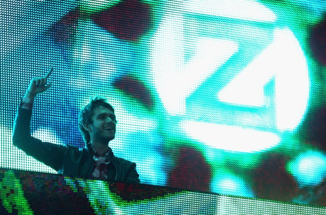Zedd performs onstage during day 1 of 2014 Coachella