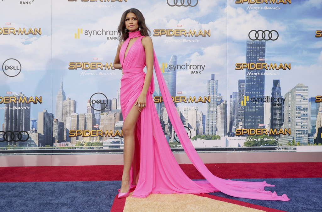 Zendaya at Columbia Pictures World Premiere of Spider-Man: Homecoming at TCL Chinese Theatre on June 28, 2017, in Hollywood, Calif.