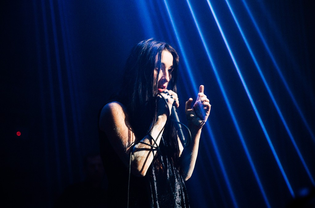 Zola Jesus performs at Sacred Bones 10th Anniversary, part of Red Bull Music Academy Festival, at Greenpoint Terminal Warehouse, in Brooklyn, NY, USA on 20 May 2017. // P-20170521-01037 // Usage for editorial use only // Please go to www.redbullcontentpoo