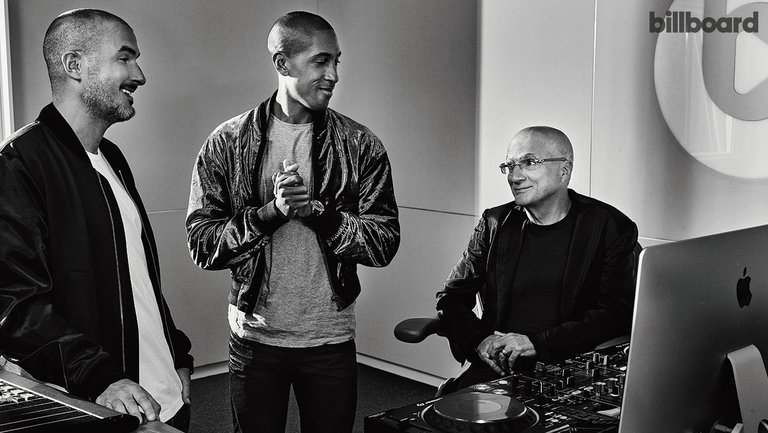 <p>From left: Zane Lowe, Larry Jackson and &nbsp&#x3B;Jimmy Iovine photographed Sept. 18 at Apple Music&rsquo&#x3B;s Beats 1 Studio in Los Angeles.</p>