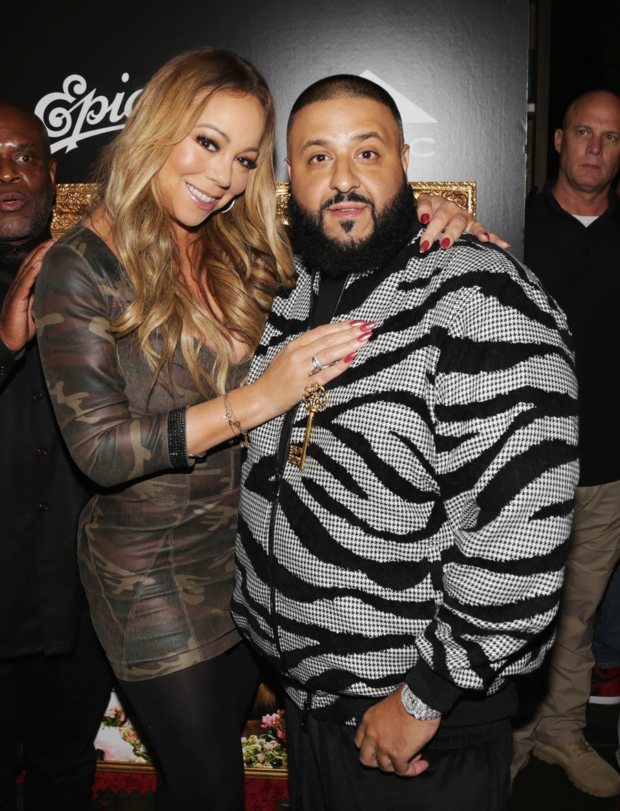 """Mariah Carey and DJ Khaled attend DJ Khaled """"The Keys"""" Book Launch Dinner Presented By Penguin Random House And CIROC on Nov. 19, 2016 in Los Angeles."""