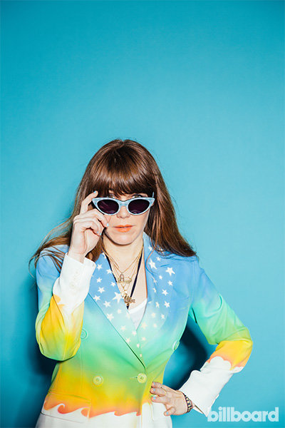 Portrait of Jenny Lewis at Governors Ball 2014
